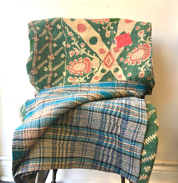 Kantha Throw #10