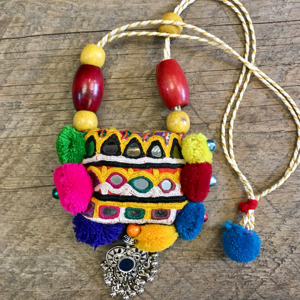 Indian Fabric Necklace #2