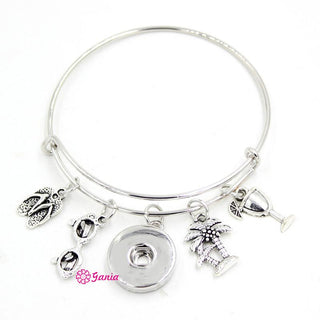 Palm Tree Cocktail Sunglasses Flip Flop Charm Bracelet