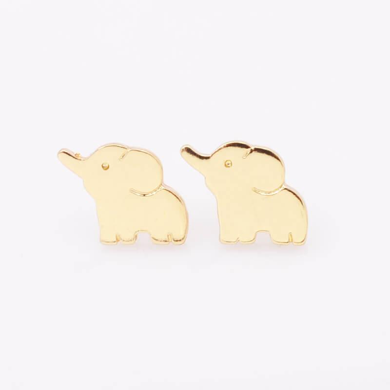 Pretty Elephant Stud Earrings