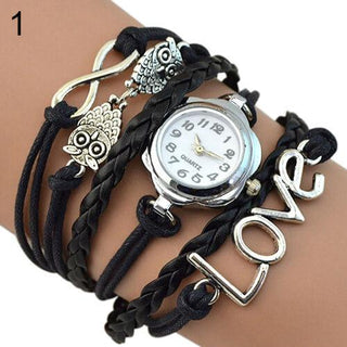 Infinity Love Owl Multilayer Bracelet Watch