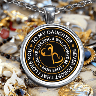 From MOM to DAUGHTER Necklace (never forget that I love you)