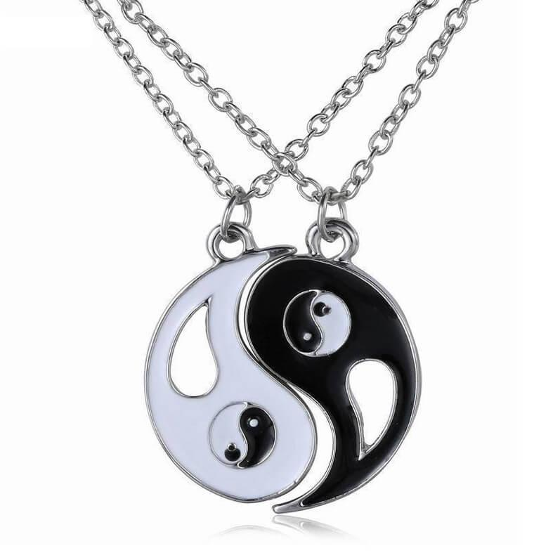 Yin Yang Couples Pendant Necklaces (includes 2 necklaces)