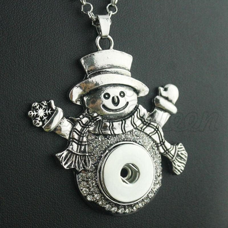 Christmas Snowman Pendant Necklace