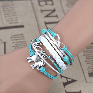 Infinity Elephant Love Multi-layer Bracelet
