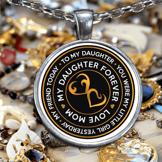From MOM to DAUGHTER Necklace (my daughter forever)
