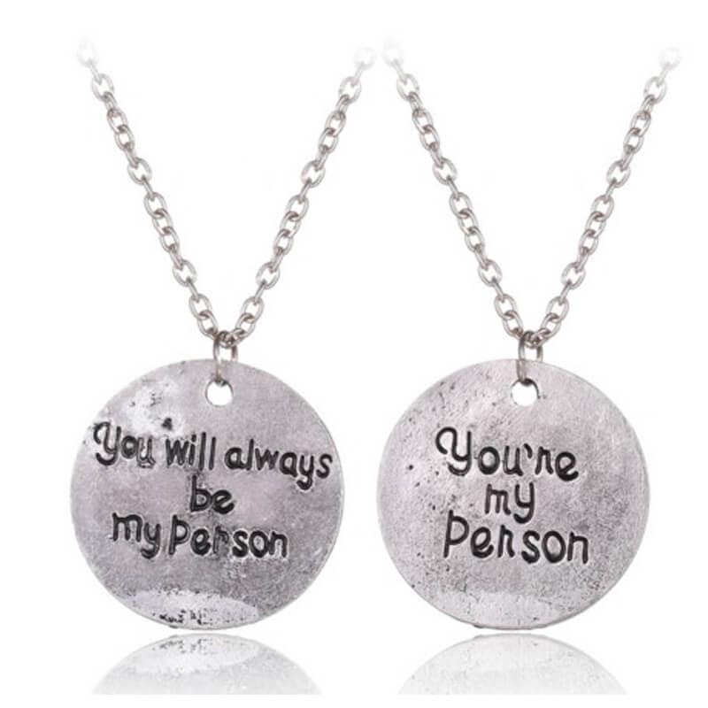 """You Are My Person"", ""You Will Always Be My Person"" Lovers Necklaces (includes 2 necklaces)"
