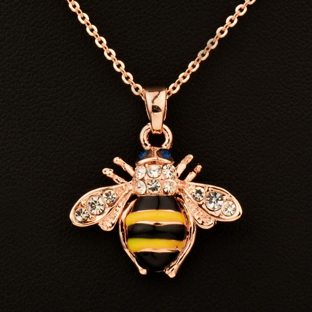 Cute Bumblebee Pendant Necklace