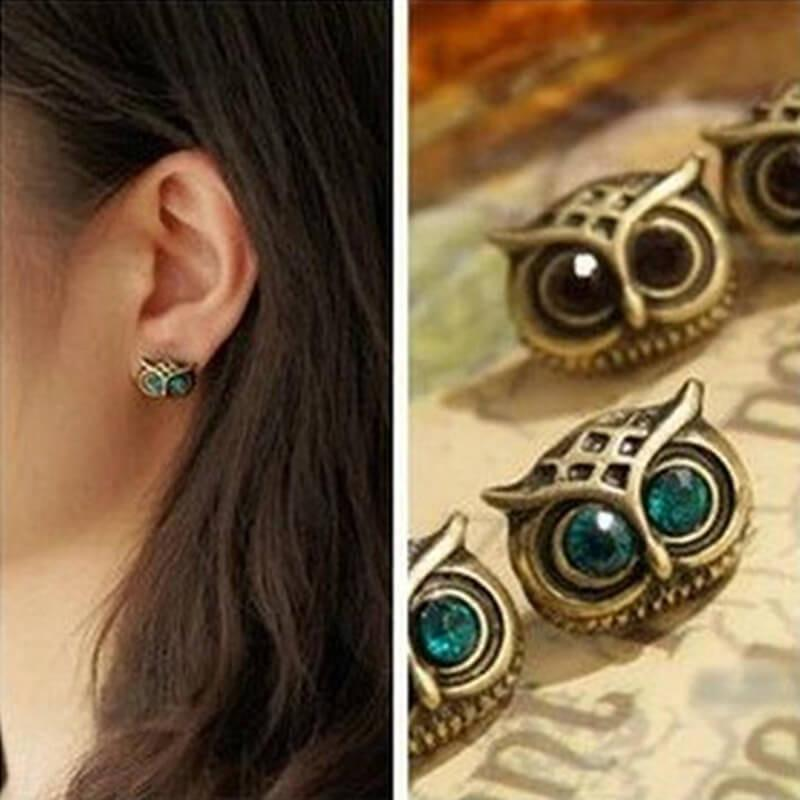 Vintage Owl Stud Earrings