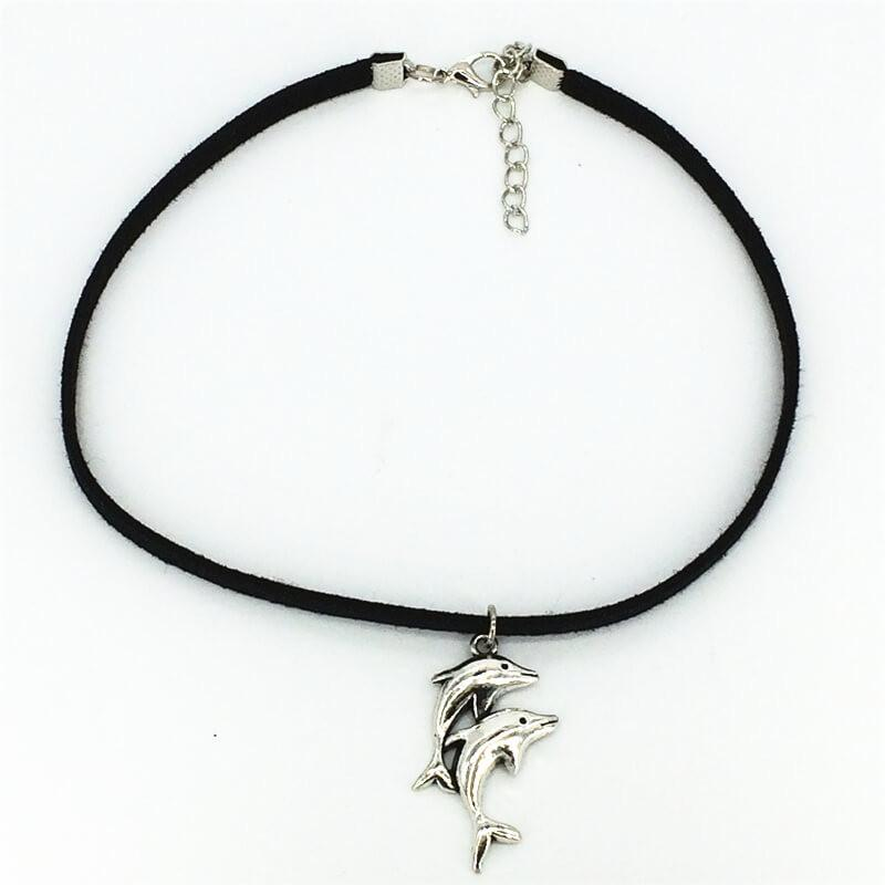 Lovely Dolphin Choker Necklace