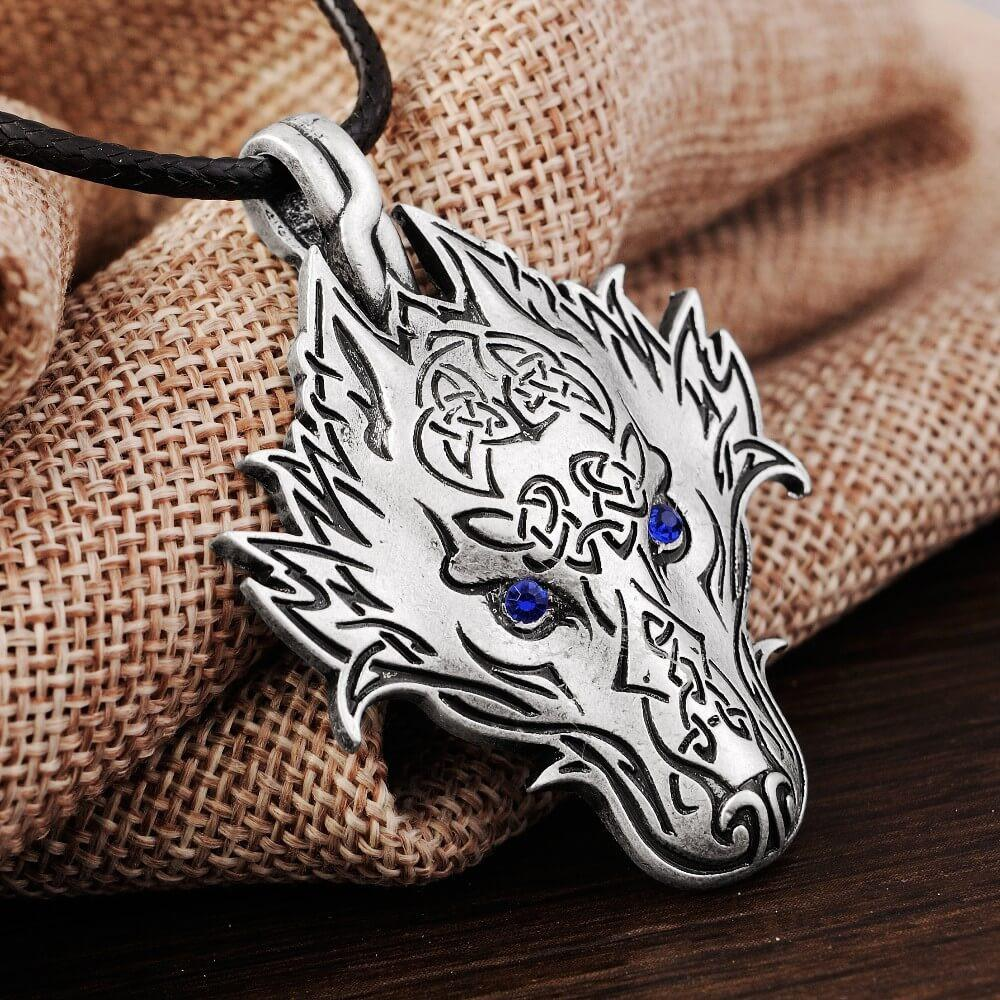 Norse Vikings Wolf Amulet Pendant Necklace