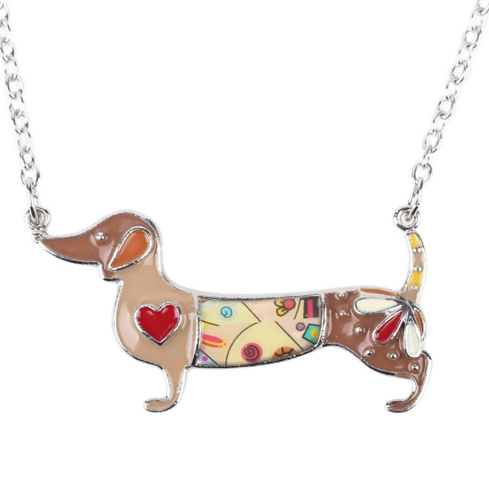 Colorful Dachshund Dog Necklace