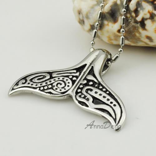 Lovely Whale Tail Stainless Steel Pendant Necklace