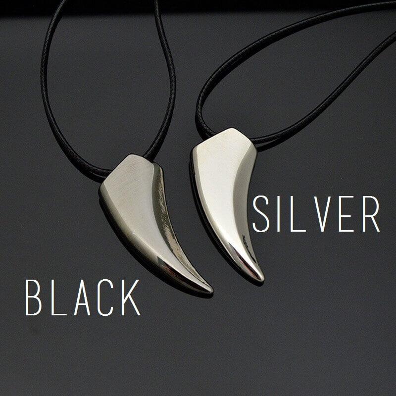 Stainless Steel Wolf Tooth Pendant Necklace