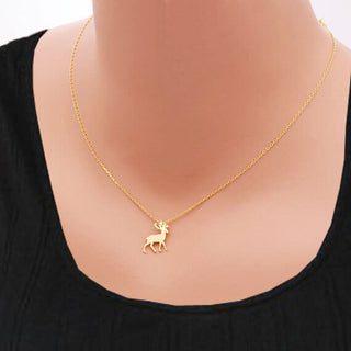 Lovely Deer Pendant Necklace