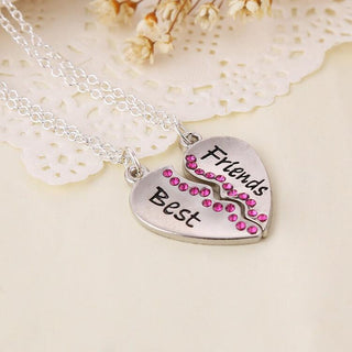 Best Friends Split Pendant Necklaces (includes 2 necklaces)