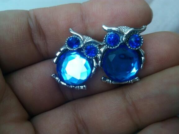 Owl Crystal Stud Earrings