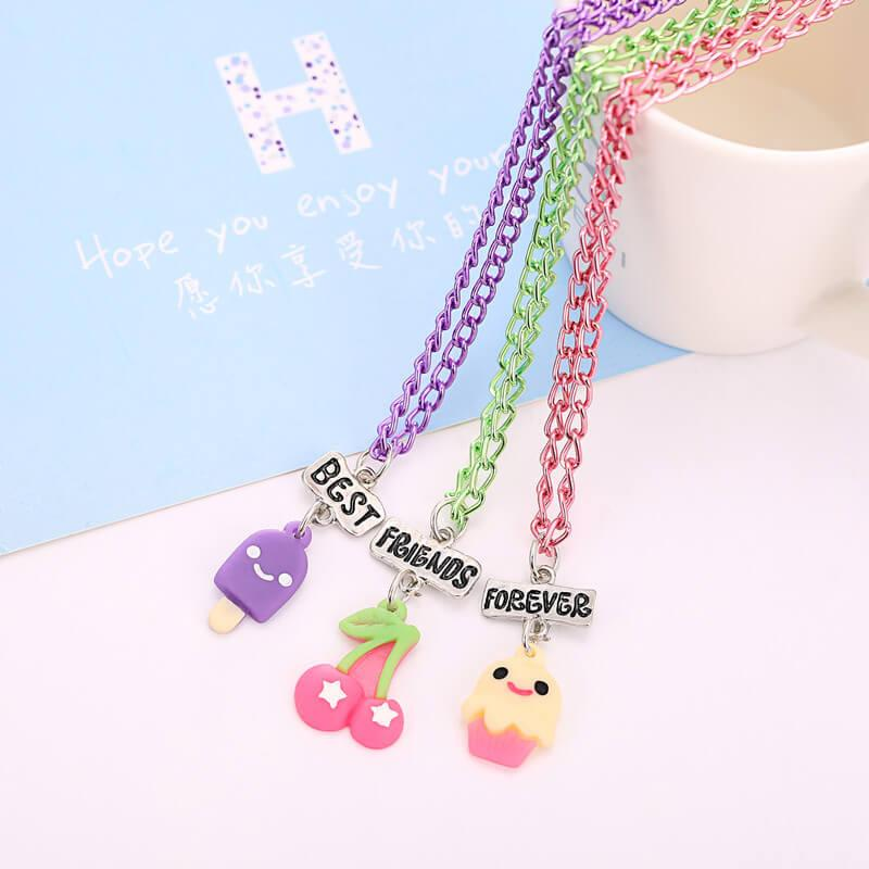 Colorful Sweets BFF Necklaces (includes 3 necklaces)