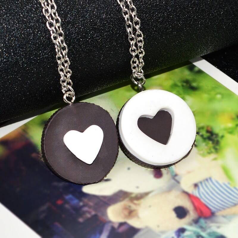 BFF Cookie Heart Pendant Necklaces (includes 2 necklaces)