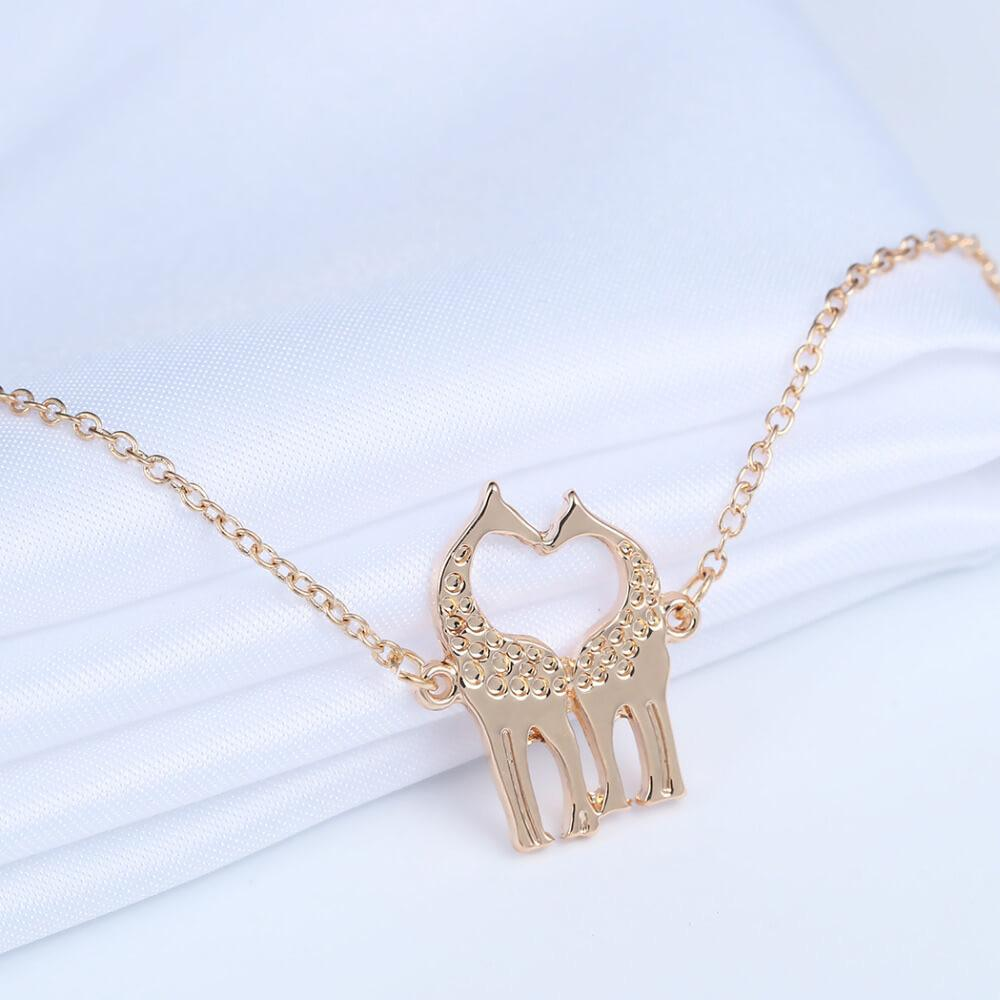 Couple Giraffe Love Bracelet