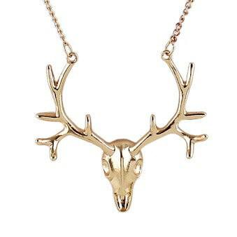 Deer Head Pendant Necklace