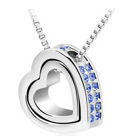 Charming Double Heart Pendant Necklace