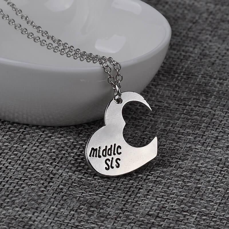 3-Piece Set Sisters Necklaces (includes 3 necklaces)