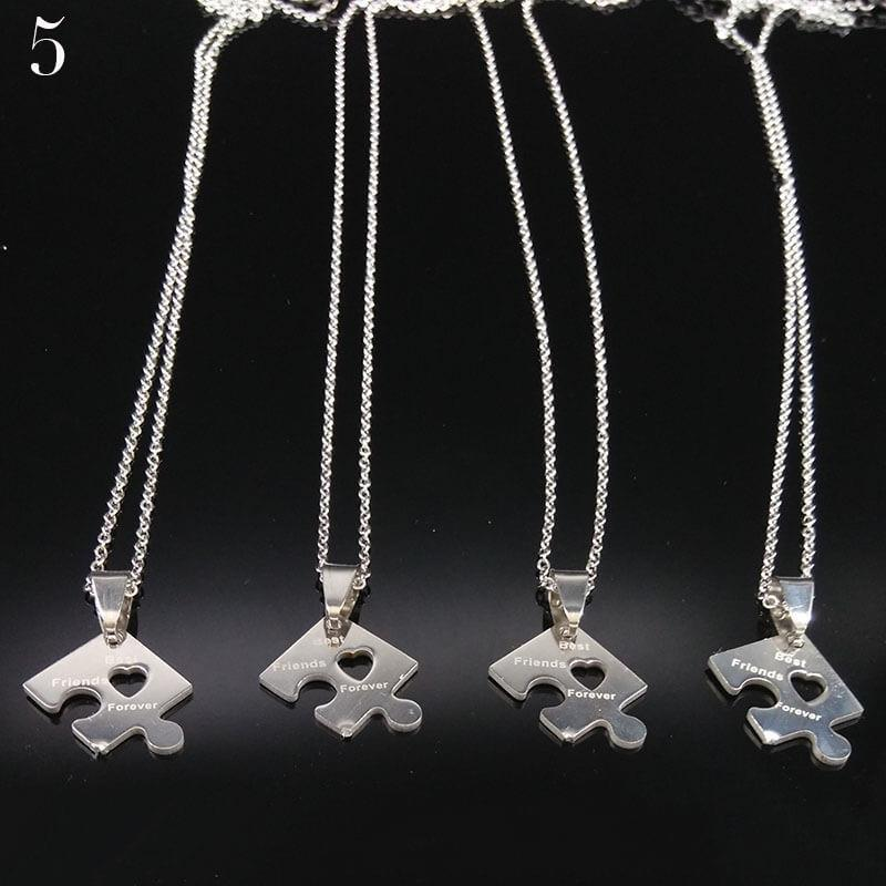 4 Pieces Best Friends Forever Pendant Necklaces (includes 4 necklaces)