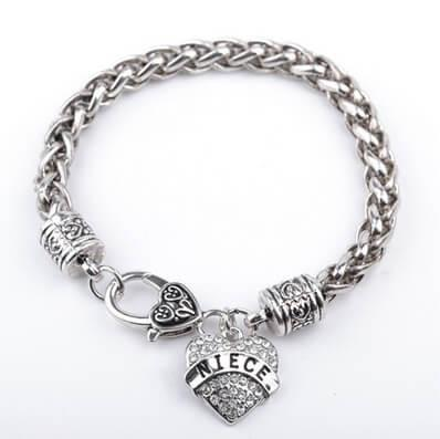 """Mom, Daughter, Grandma, Aunt, Sister, Niece"" Heart Bracelets"