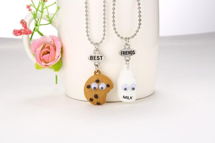 Cookie & Milk BFF Pendant Necklaces (includes 2 necklaces)
