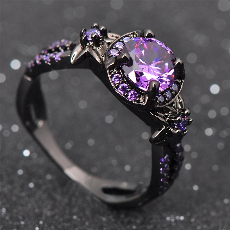 Purple Cubic Zirconia Ring