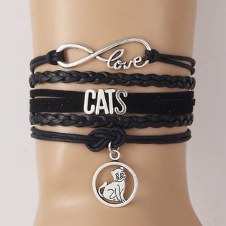 Infinity Love Cats Multi-layer Bracelet