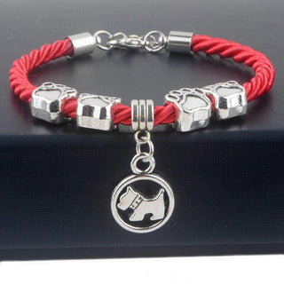 Cute Dog Paw Red Bracelet