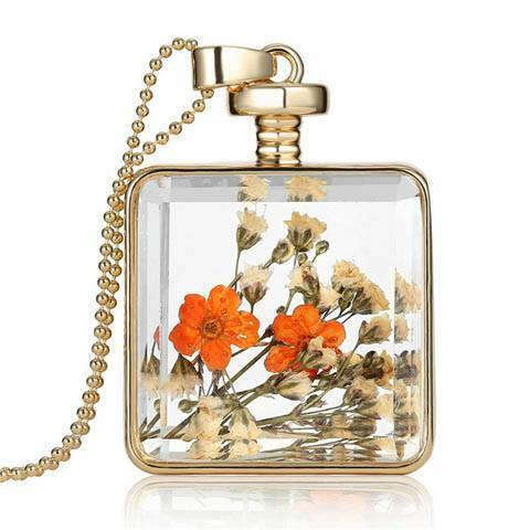Dried Flowers Necklace - Catrice Devaux - 2