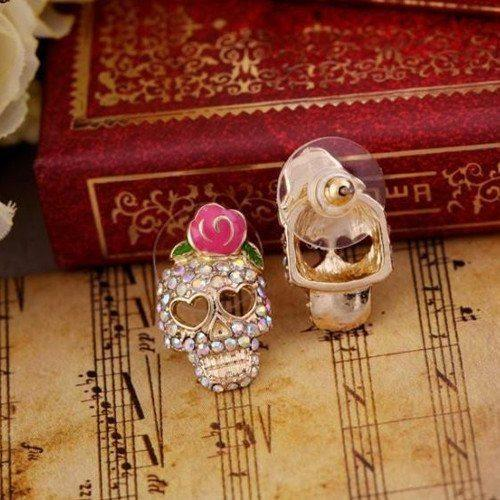 ♥ Rose Skull Earrings ♥ - Catrice Devaux - 2