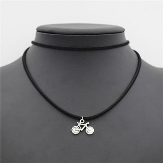 Bicycle Pendant Choker Necklace