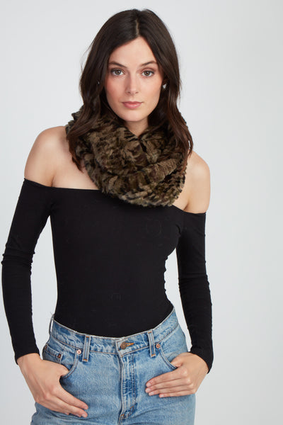 The Delilah Knitted Infinity Scarf - Camo