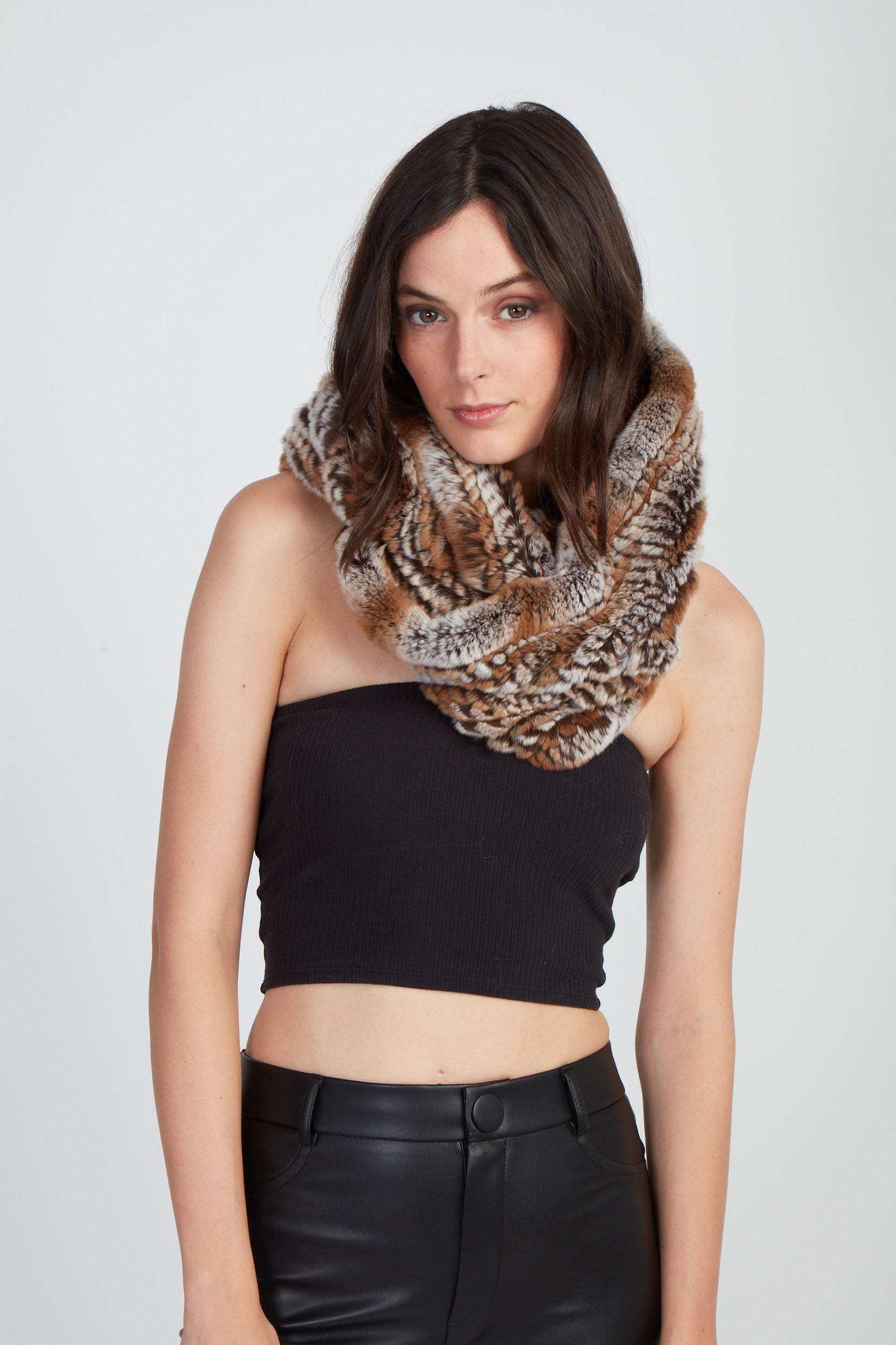 The Chloe Snow Top Infinity Scarf - Natural