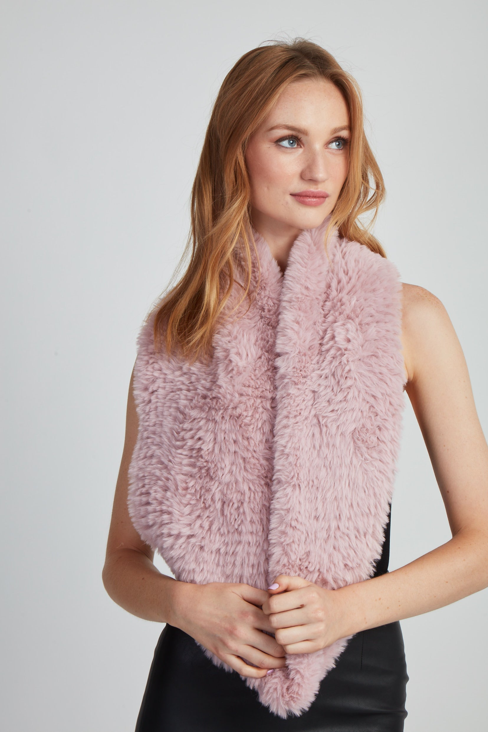 The Fab Faux Fur Infinity Scarf - Blush
