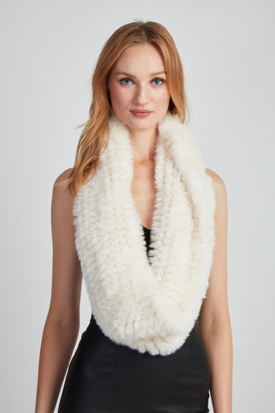 The Fab Faux Fur Infinity Scarf - Ivory