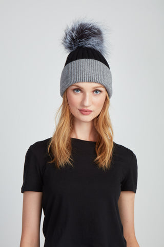 The Chrissy Hat - Grey Black
