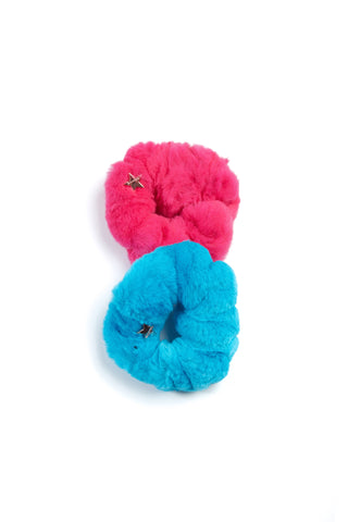 The Selena Scrunchy Set - Pink Teal