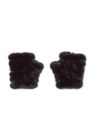 The Mandy Mitten - Faux Fur - Black