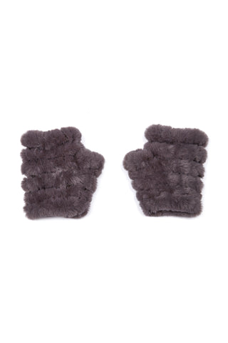 The Mandy Mitten - Faux Fur - Grey