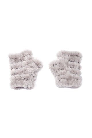 The Mandy Mitten - Faux Fur - Light Grey