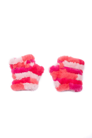 The Mandy Mitten - Faux Fur - Pink Multi