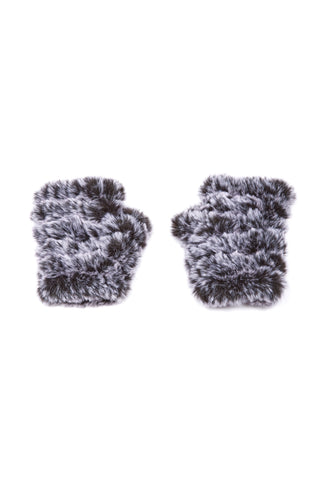The Mandy Mitten - Faux Fur - Black/White