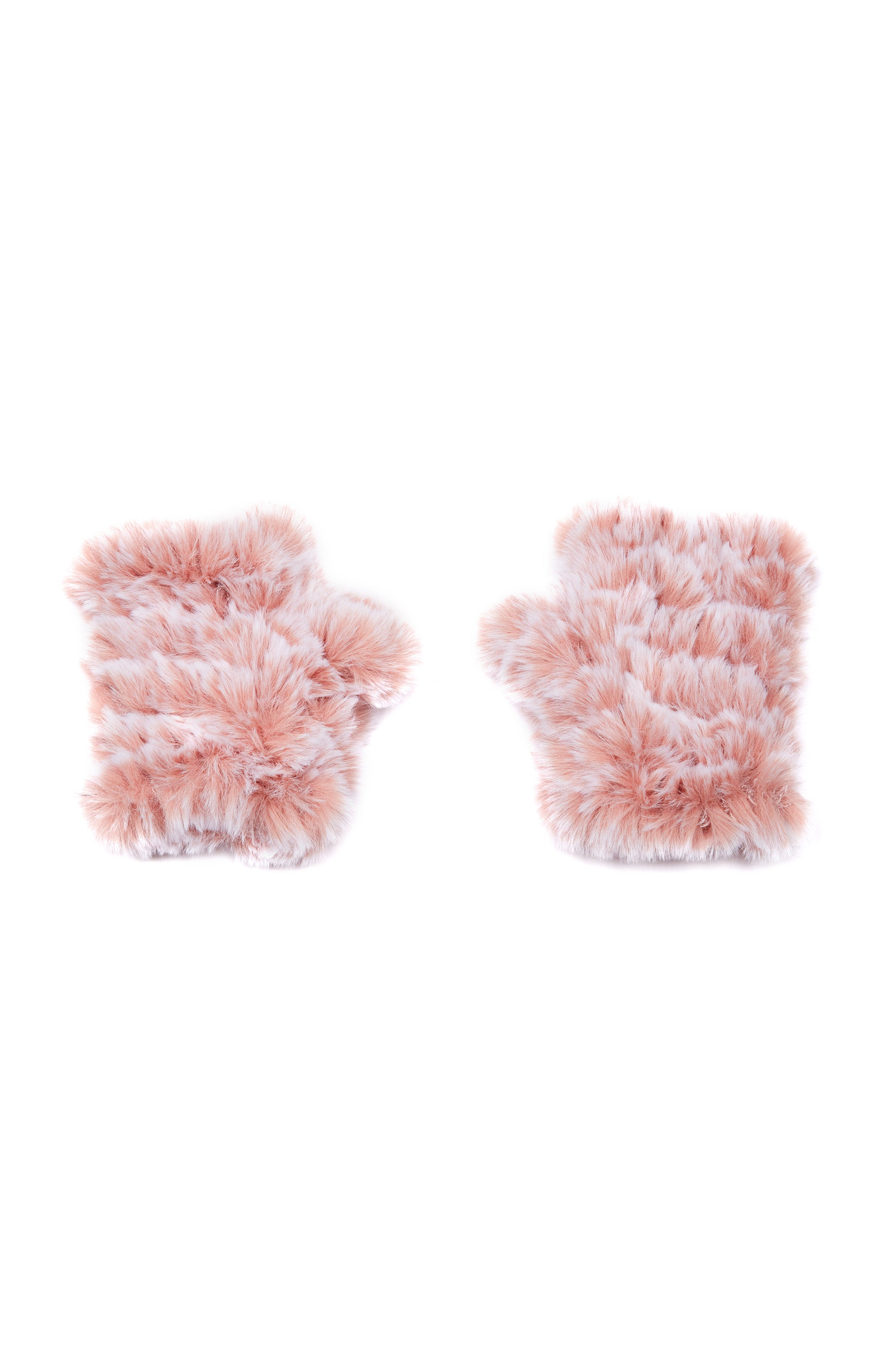 The Mandy Mitten - Faux Fur - Blush