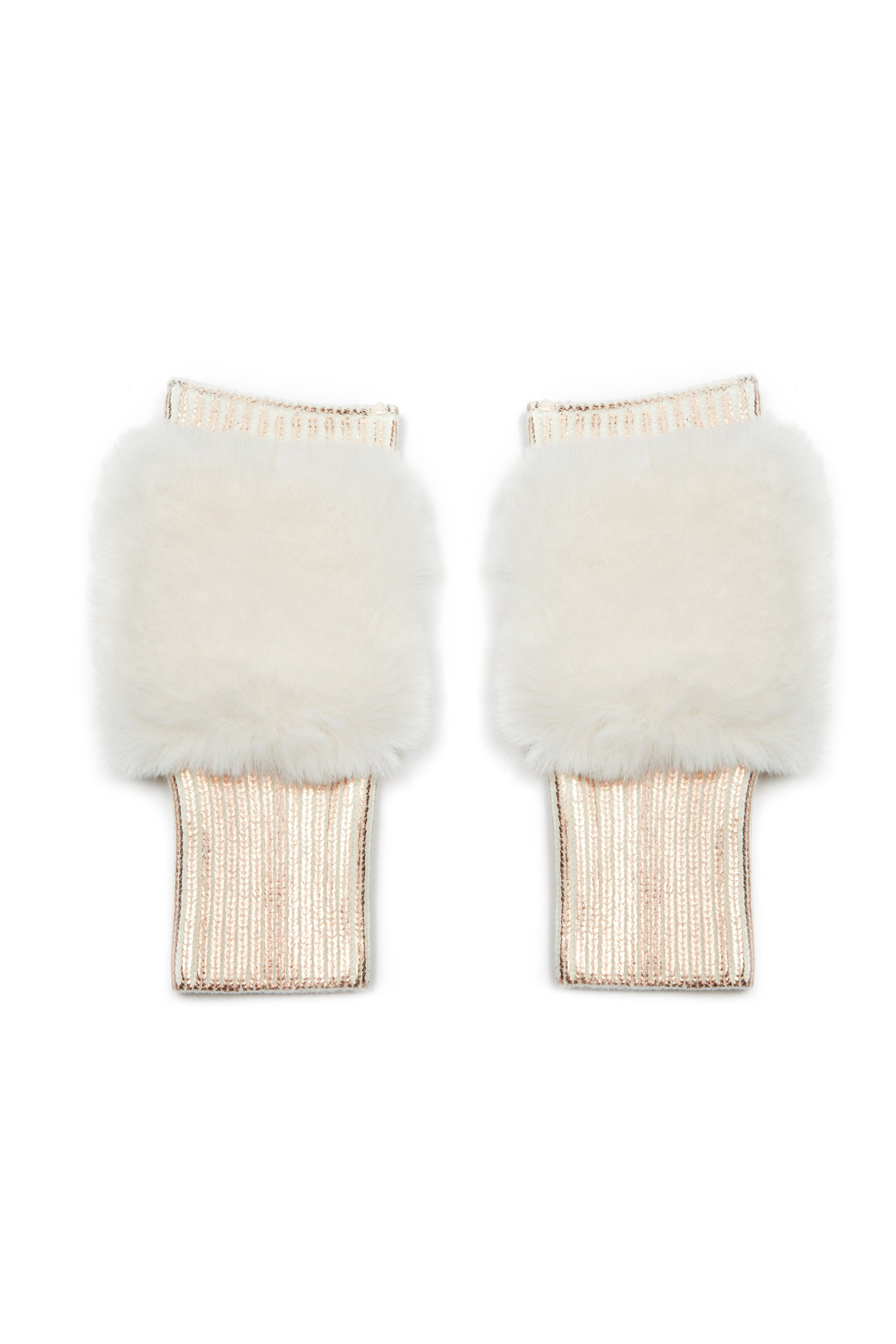 The East Broadway Mittens - Faux Fur - Rose Gold