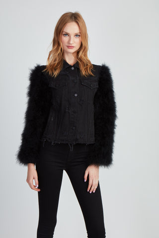 The Secret Lover Denim + Fifi Jacket - Black